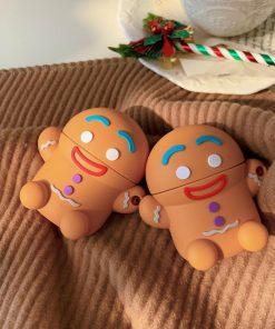 Cute Gingerbread Man Premium AirPods Case Shock Proof Cover