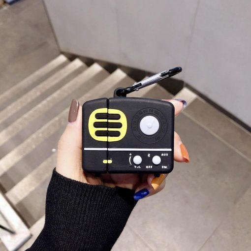 Old School Retro Radio Premium AirPods Case Shock Proof Cover