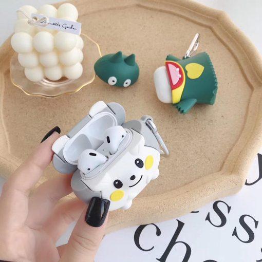 Cute Grey Hedgehog Premium AirPods Case Shock Proof Cover