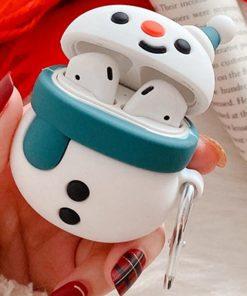 Cute Snowman Premium AirPods Case Shock Proof Cover