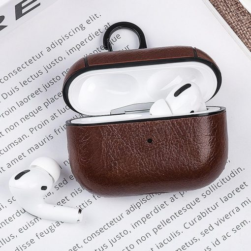 Luxury Vegan Leather AirPods Pro Case Shock Proof Cover