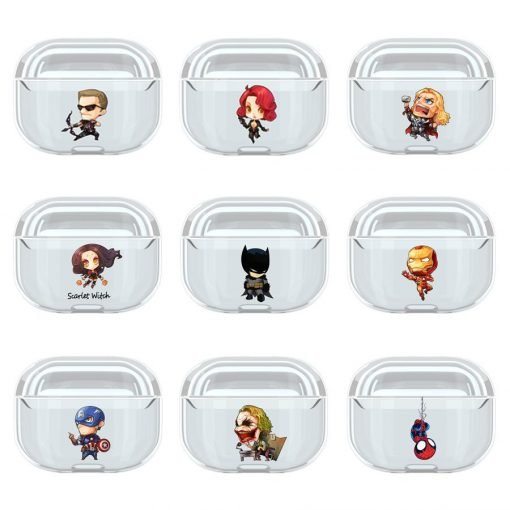 Superhero 'Comic' Clear Acrylic AirPods Pro Case Shock Proof Cover
