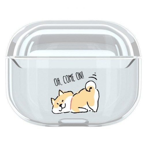 Cute Dog Clear Acrylic AirPods Pro Case Shock Proof Cover