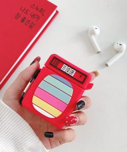Tube TV Color Bars Premium AirPods Case Shock Proof Cover