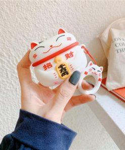 Cute Japanese Style 'Matabi Neko Cat' Premium AirPods Pro Case Shock Proof Cover