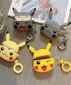 Pokemon 'Grey Winking Pikachu' Premium AirPods Pro Case Shock Proof Cover