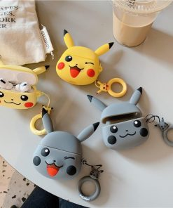 Pokemon 'Grey Pikachu' Premium AirPods Pro Case Shock Proof Cover