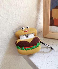 Happy Hamburger Premium AirPods Case Shock Proof Cover