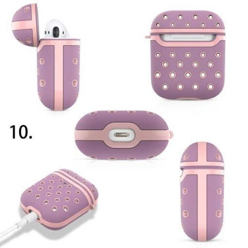 Silicone Dotted Colors Airpods Case Cover