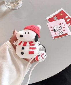 Charlie Brown 'Snoopy Snowman' Premium AirPods Case Shock Proof Cover