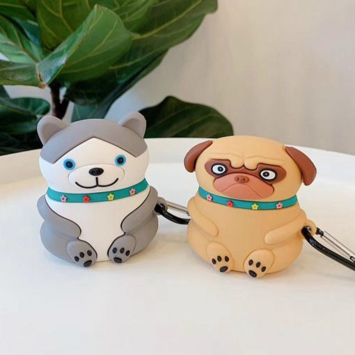 Happy Sitting Husky Premium AirPods Case Shock Proof Cover