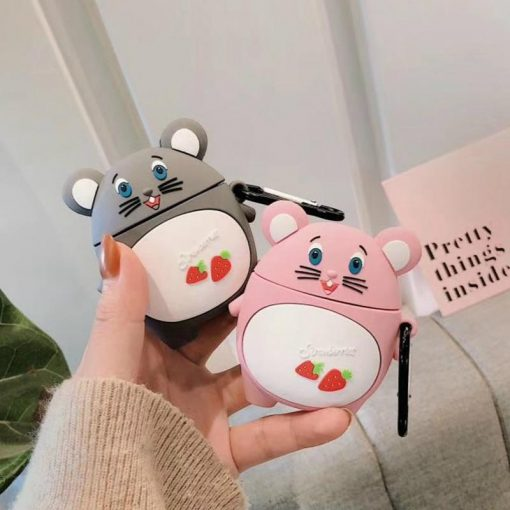 Strawberry Mouse Premium AirPods Case Shock Proof Cover