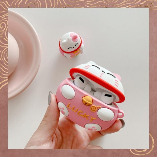 Japanese Lucky Cat Premium AirPods Pro Case Shock Proof Cover