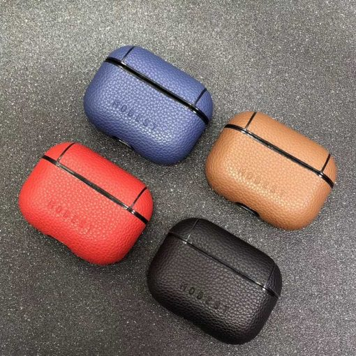 Luxury Hard Vegan Leather AirPods Pro Case Shock Proof Cover