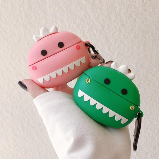 Cute Dino with Teeth Premium AirPods Pro Case Shock Proof Cover
