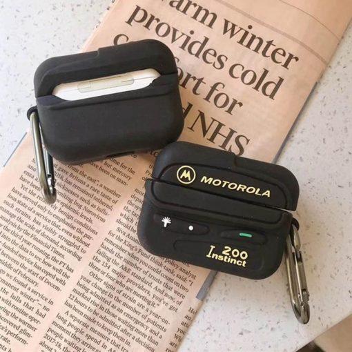 Retro Motorola Beeper Premium AirPods Pro Case Shock Proof Cover