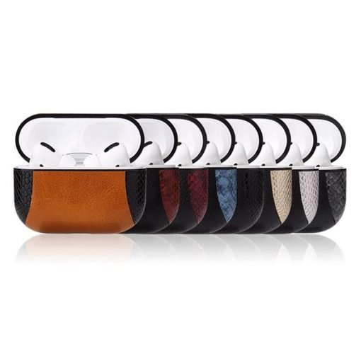 Vegan Leather Two Tone Snake Skin AirPods Pro Case Shock Proof Cover