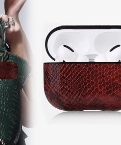Vegan Snake Skin Leather  AirPods Pro Case Shock Proof