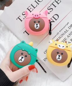 Bear in a Dinosaur Costume Premium AirPods Pro Case Shock Proof Cover