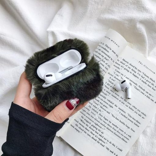 Cute Plush AirPods Pro Case Shock Proof Cover