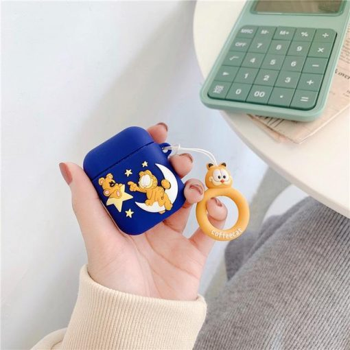 Garfield 'Crescent Moon' Premium AirPods Case Shock Proof Cover