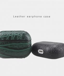 Alligator Vegan Leather AirPods Pro Case Shock Proof Cover