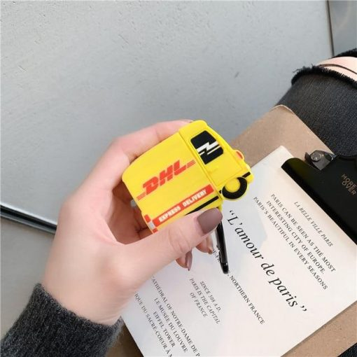 DHL Truck Premium AirPods Case Shock Proof Cover