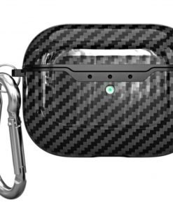 Carbon Fiber Style Plastic   TPU AirPods Pro Case Shock Proof Cover