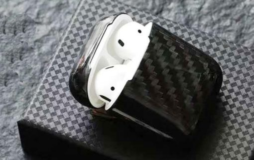 Black Carbon Fiber Premium AirPods Case Shock Proof Cover