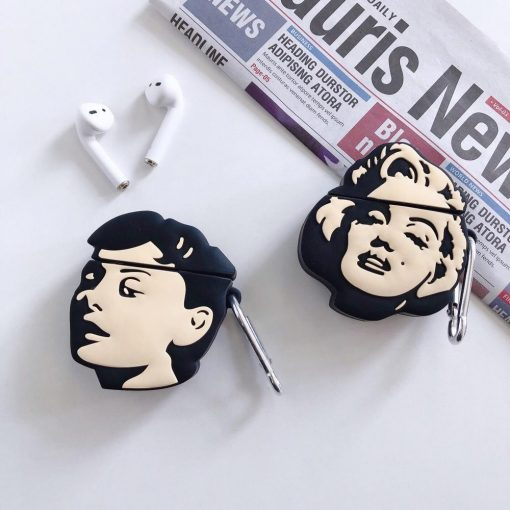 Audrey Hepburn Premium AirPods Case Shock Proof Cover
