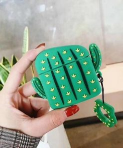 Green Thorny Cactus Premium AirPods Pro Case Shock Proof Cover