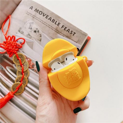 Chinese New Year Gold Ingot Premium AirPods Case Shock Proof Cover