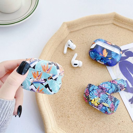 Tropical Flowers TPU | Plastic AirPods Pro Case Shock Proof Cover
