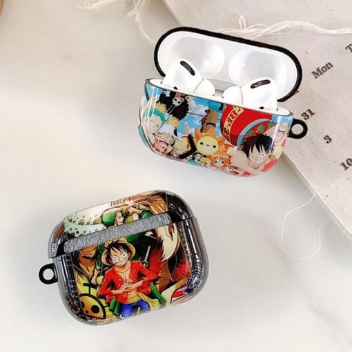 One Piece 'Luffy Zoro Ace | Mural' AirPods Pro Case Shock Proof Cover