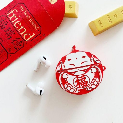 Cute Chinese New Year Ornament Premium AirPods Pro Case Shock Proof Cover