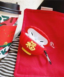 Cute Red Lantern Premium AirPods Pro Case Shock Proof Cover