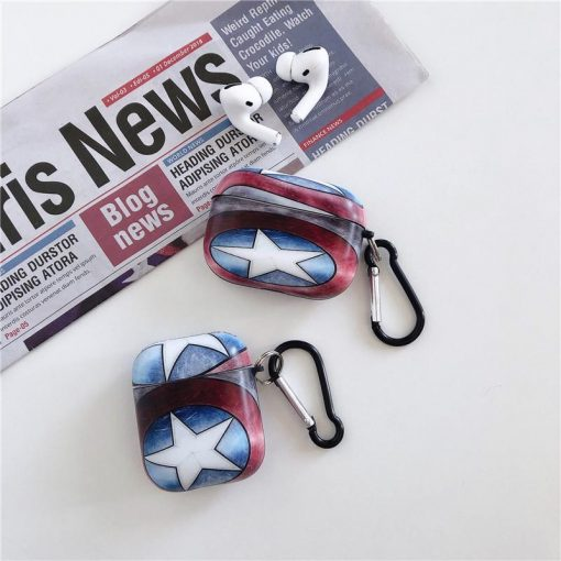 Captain America 'Stars and Stripes' AirPods Pro Case Shock Proof Cover
