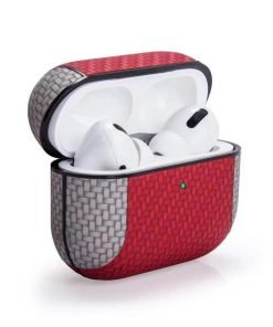 Two Tone Vegan Woven Leather AirPods Pro Case Shock Proof Cover