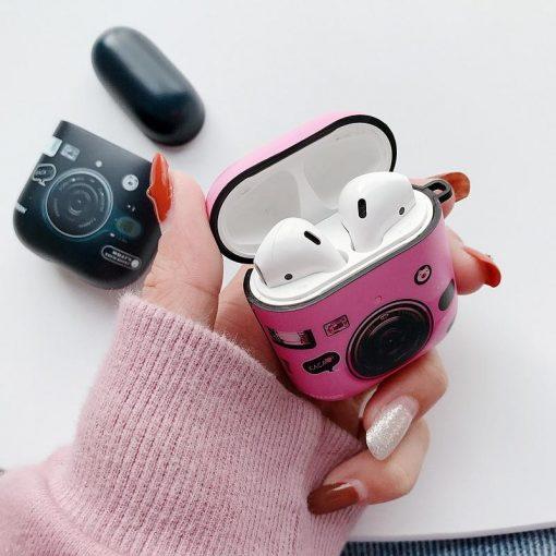 Cute Camera AirPods Case Shock Proof Cover