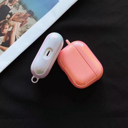 Solid Sparkle Silicone AirPods Pro Case Shock Proof Cover