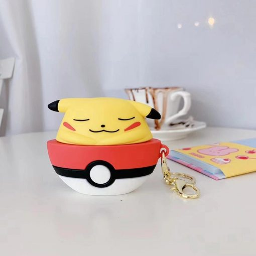 Pokemon 'Sleeping Pikachu in a Pokeball' Premium AirPods Pro Case Shock Proof Cover