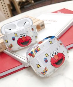 Sesame Street 'Elmo' Clear Acrylic AirPods Pro Case Shock Proof Cover