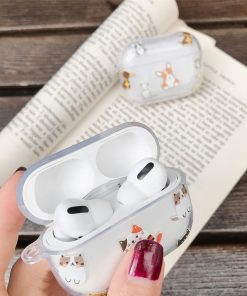 Cute Kitty Clear Acrylic AirPods Pro Case Shock Proof Cover
