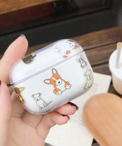 Cute Doggy Clear Acrylic AirPods Pro Case Shock Proof Cover