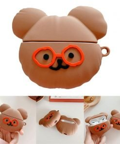 Cute Teddy with Glasses Premium AirPods Pro Case Shock Proof Cover