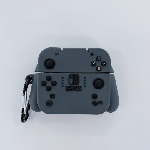 Grey Nintendo Switch Premium AirPods Pro Case Shock Proof Cover