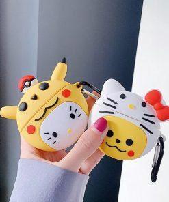 Pokemon 'Pikachu in a Hello Kitty Costume' Premium AirPods Pro Case Shock Proof Cover