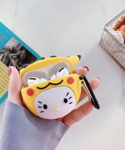 Pokemon 'Hello Kitty in a Pikachu Costume' Premium AirPods Pro Case Shock Proof Cover