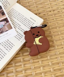 Cute Teddy 'Eating a Cracker' Premium AirPods Pro Case Shock Proof Cover