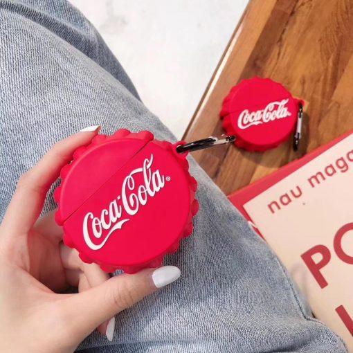 Coca Cola Bottle Cap Premium AirPods Pro Case Shock Proof Cover